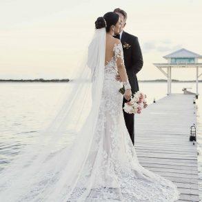 Beach wedding at Mahogany Bay Resort
