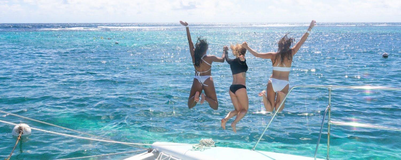 Catamaran sailing trip