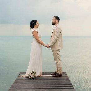 Ceremony on the dock at Mahogany Bay Resort