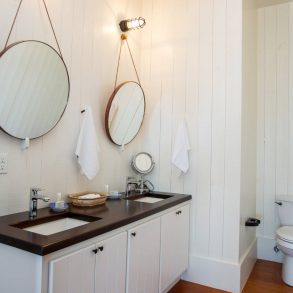 townhome bathroom double vanity