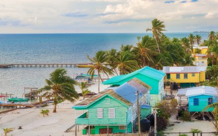 colorful Belize islands
