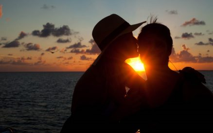 Couple at Sunset in Belize