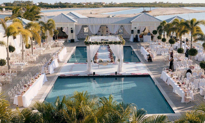 wedding over pool