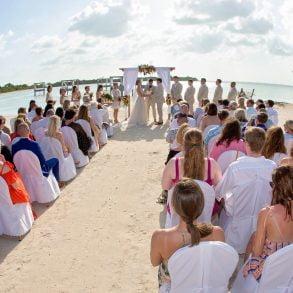 beach club wedding ceremony