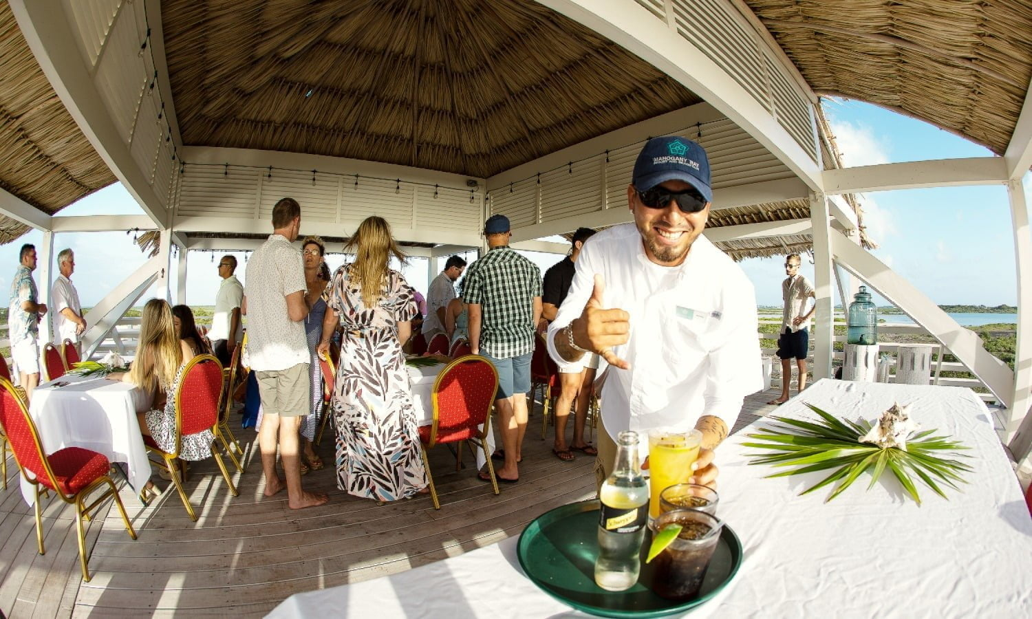 bartender at beach club