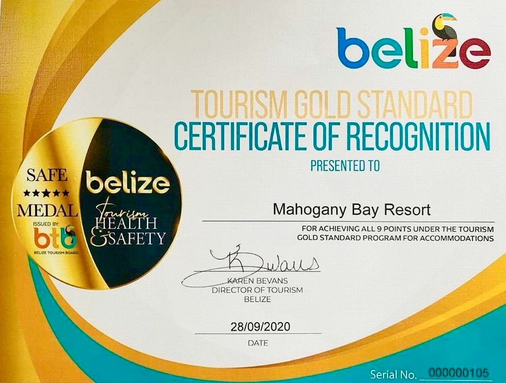 Gold Standard Certificate Belize
