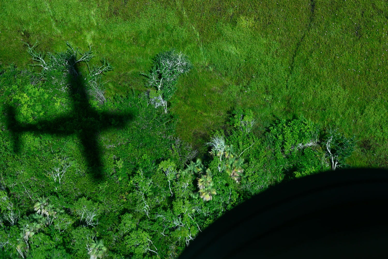 flight over Belize